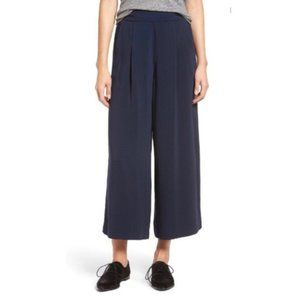 Madewell Navy Caldwell Crop Trousers